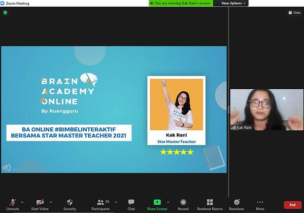 Live Teaching Brain Academy Online